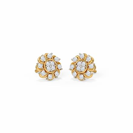 Bloomed Lotus Stud Earrings