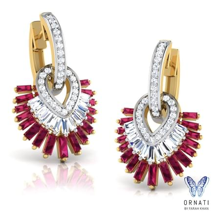 Ruby Frills Earrings