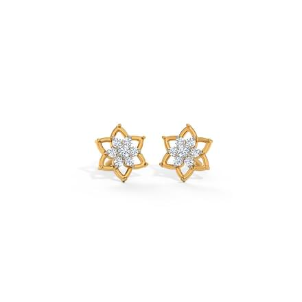 Floweret Cluster Stud Earrings