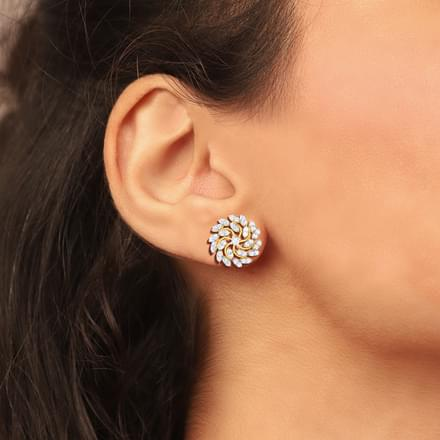 Zinnia Cluster Stud Earrings