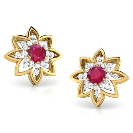 Lea Ruby Stud Earrings