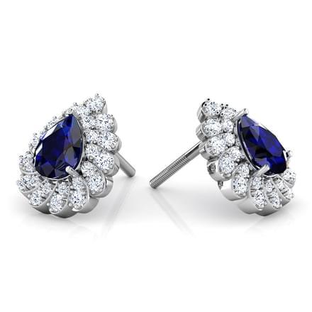 erin blue sapphire stud earrings jewellery india online. Black Bedroom Furniture Sets. Home Design Ideas