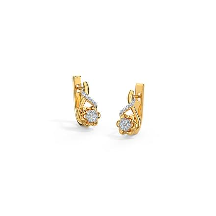 Jennifer Flower Hoop Earrings Jewellery India Online