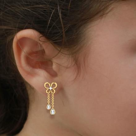 Butterfly Dew Drop Earrings
