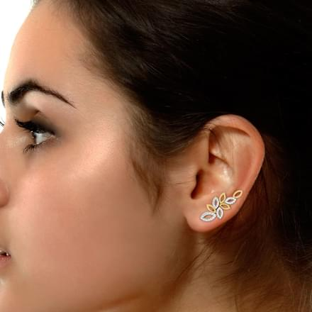 Petal Linked Ear Cuffs