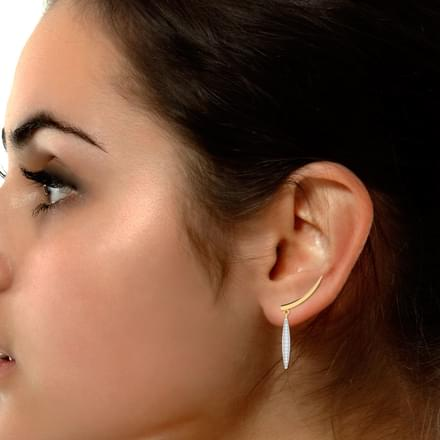 Diamond Drop Ear Cuffs