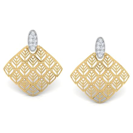 Joe Trellis Diamond Stud Earrings