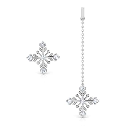 Snow Flakes Mismatched Earrings