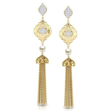 Amara Intricate Tassel Drop Earrings