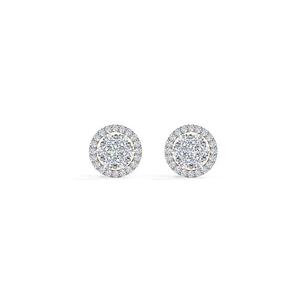 Carol Seven Stone Stud Earrings