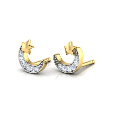 Crescent & Star Multi Pierced Earrings