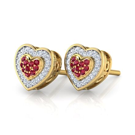 Blossom Heart Stud Earrings