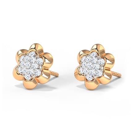 Floral Clutch Stud Earrings