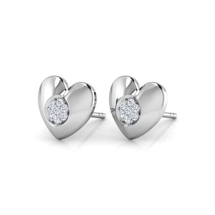 Cluster in Heart Stud Earrings