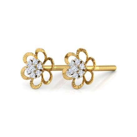 Cluster in Flower Stud Earrings