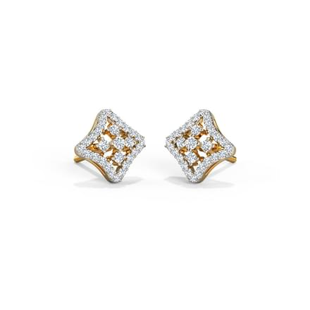 Chequered Stud Earrings