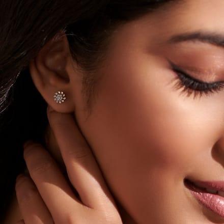 Sparkling Star Stud Earrings Jewellery India Online
