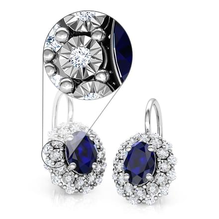 Duo Halo Miracle Plate Earrings