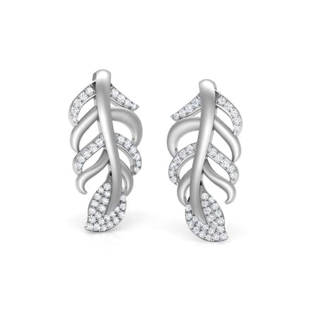 Wispy Leaf Stud Earrings