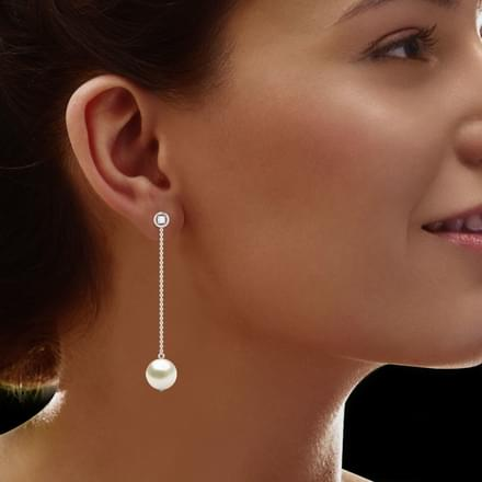 Beeline Pearl Drop Earrings