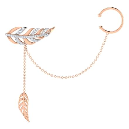 Feather Single Earring