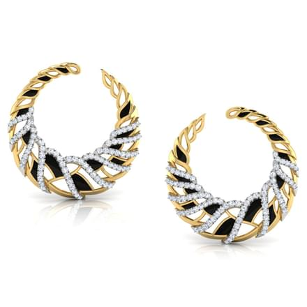 Plume Arch Hoop Earrings