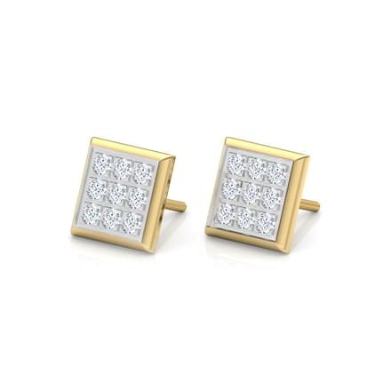 Classic Grid Stud Earrings