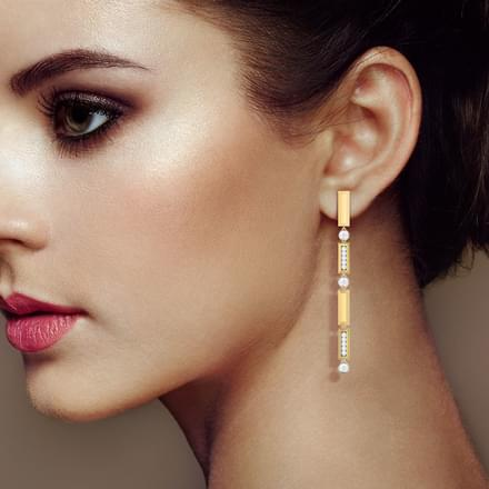 Shanti Linear Drop Earrings