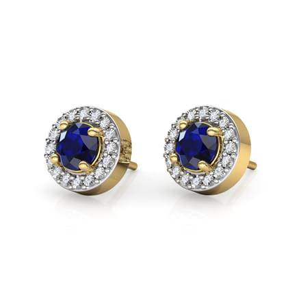 Halo Miracle Plate Stud Earrings