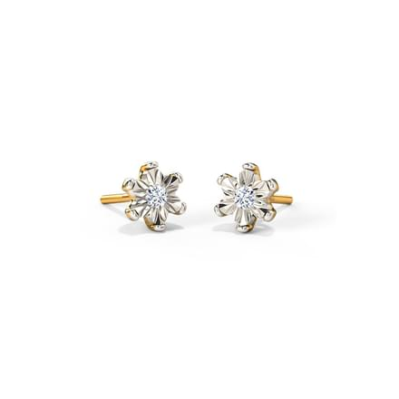 Blossom Miracle Plate Stud Earrings