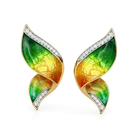 Pinion Green Butterfly Ear Cuffs