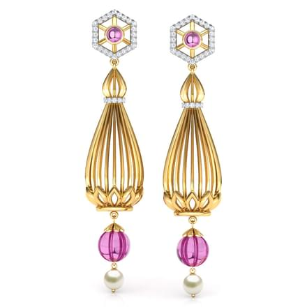 Samode Pillar Drop Earrings