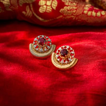 Arch Brocade Stud Earrings