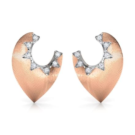 Contour Petal Stud Earrings