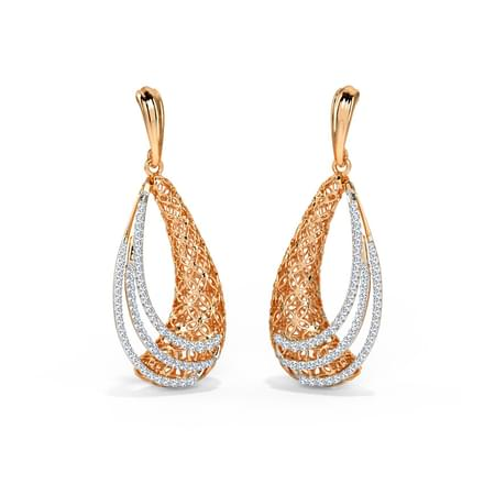 Dina Trellis Diamond Drop Earrings