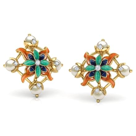 Adah Lily Stud Earrings