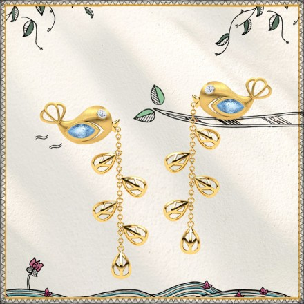 Sarika Sprig Drop Earrings