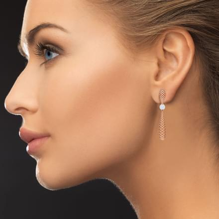 Sleek Lattice Drop Earrings