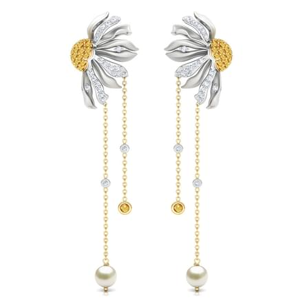 Gazania Floret Drop Earrings