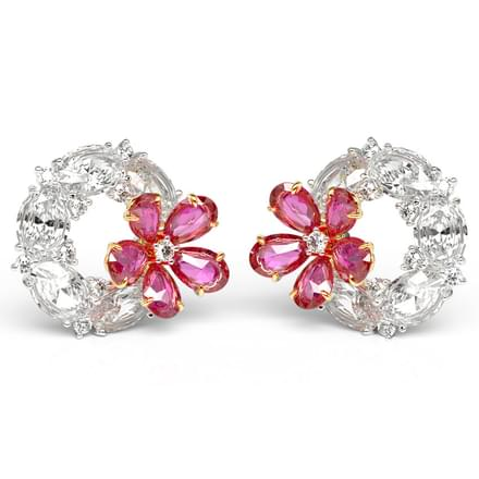 Faiza Flora Stud Earrings