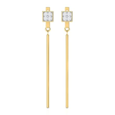 Minimalistic Bar Drop Earrings