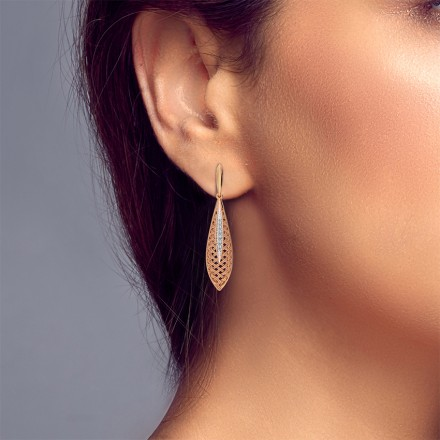 Swish Twill Drop Earrings