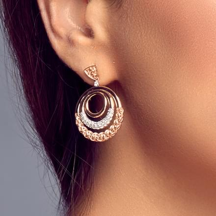 Ornate Interlaced Drop Earrings