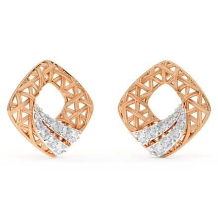 Stroke Interlaced Stud Earrings