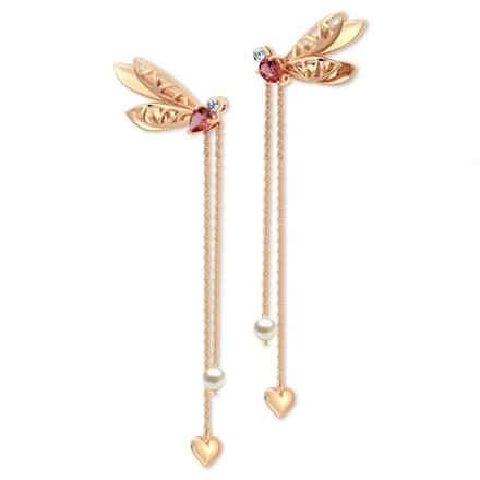 Glide Dragonfly Drop Earrings