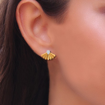 Flare Crown Stud Earrings