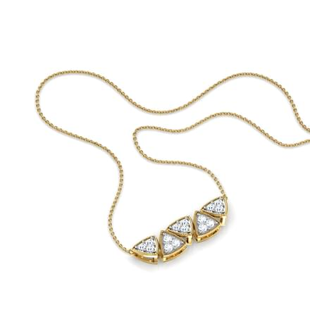 Natalia Twin Bar Diamond Necklace