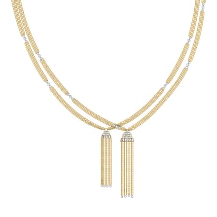 Angela Tassel Diamond Necklace