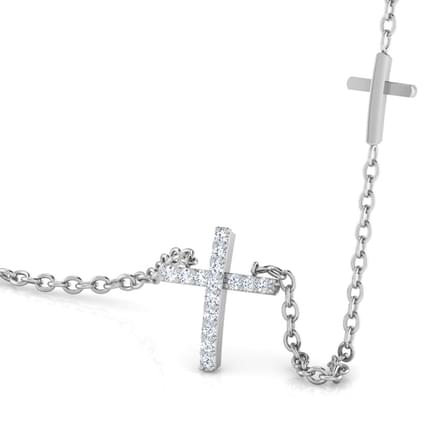 Cross of Jesus Diamond Necklace