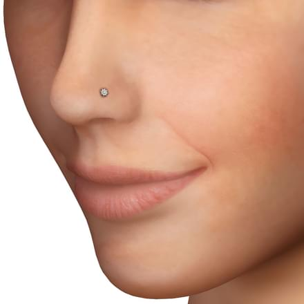 Gerbera Nose Pin